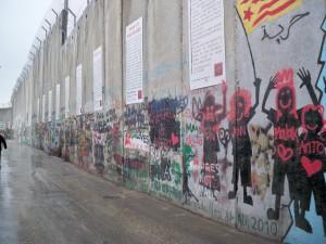 The Wall Museum. Mur de séparation, côté palestinien après le checkpoint 300, Bethléem, février 2013