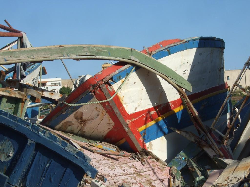 Cimetière des bateaux Lampedusa (@P. Cuttitta)
